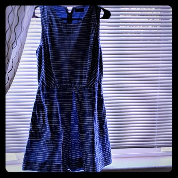 GAP Dresses & Skirts - Gap Blue&White Striped FIT & Flare dress